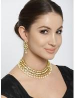Jewels Galaxy Gold-Toned Kundan Jeweller...