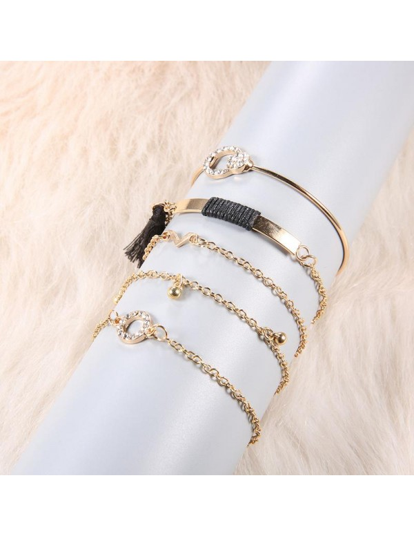 Jewels Galaxy Combo of 5 Gold Plated Bracelets 490...