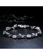 Jewels Galaxy Mesmerizing Crystal Leaf S...