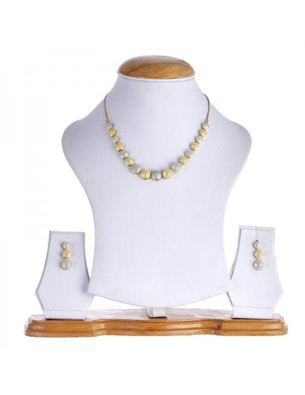 Jewels Galaxy Gold Toned - Gold Plated AD Jewellery Set