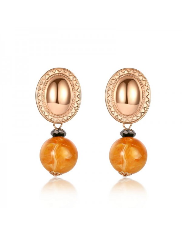 Jewels Galaxy Gold Plated Yellow Drop Earrings