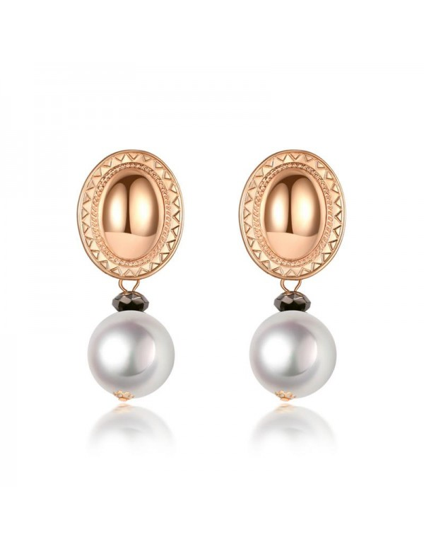 Jewels Galaxy Gold Plated White Drop Earrings