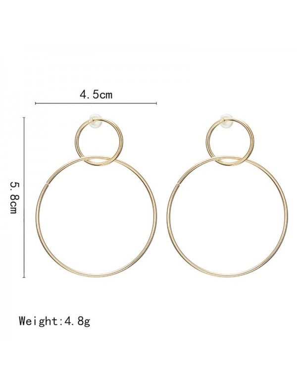 Jewels Galaxy Exquisite Circular Design Plushy Hoop Earrings For Women/Girls