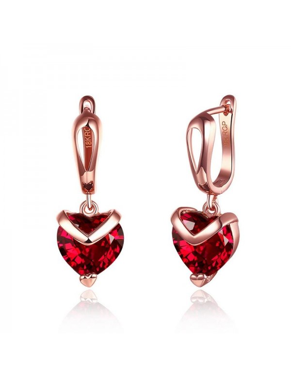 Jewels Galaxy Magnificent Crystal Heart Rose Gold ...