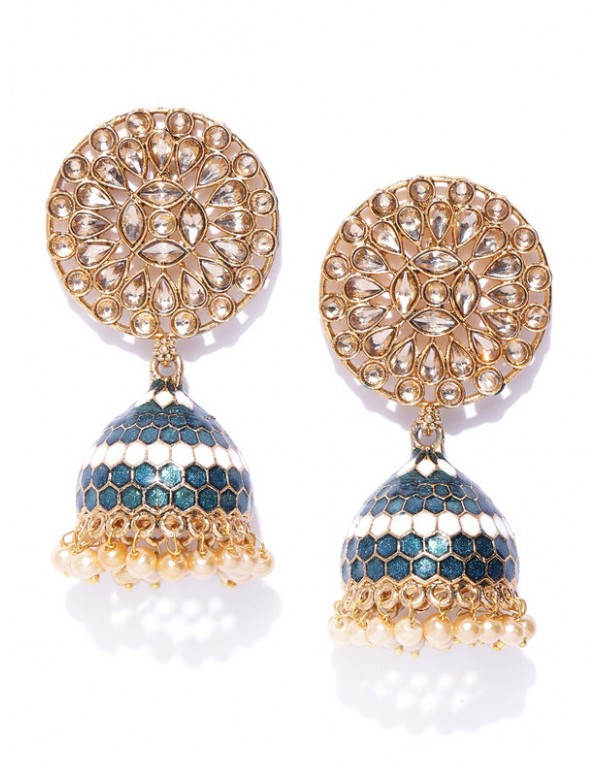Jewels Galaxy Exquisite Floral CZ & Pearl Gold...