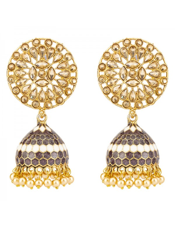 Jewels Galaxy Exclusive Floral CZ & Pearl Gold...