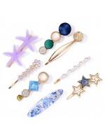 Jewels Galaxy Pearl & AD Hair Clips ...