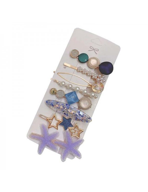 Jewels Galaxy Pearl & AD Hair Clips Jewellery For Women 6601