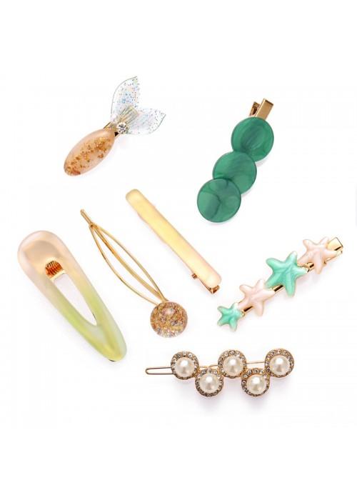 Jewels Galaxy Mesmerizing Pearl Hair Clips Jewellery For Women 6608
