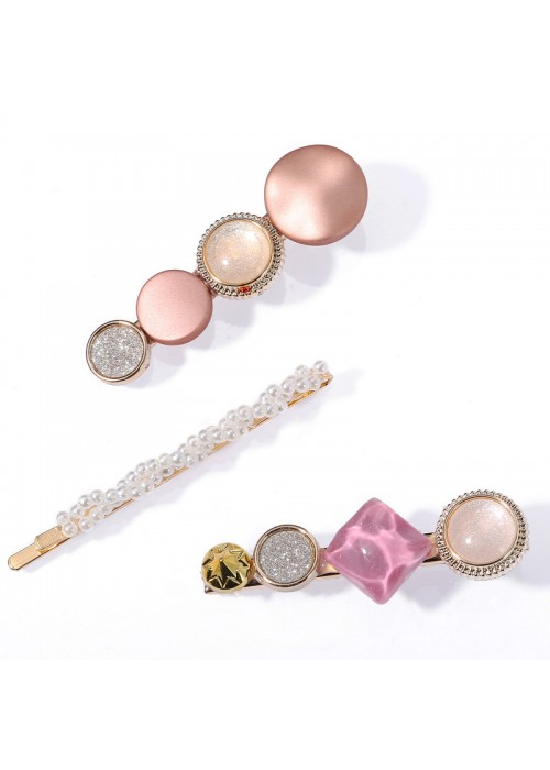Jewels Galaxy Stylish Pearl Gold Plated Hairclips for Women/Girls