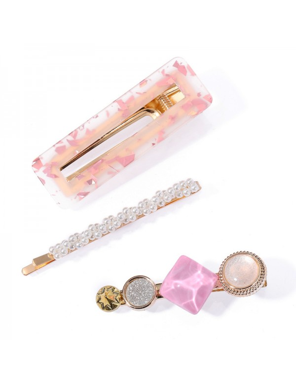 Jewels Galaxy Stylish Pearl Gold Plated Hairclips ...