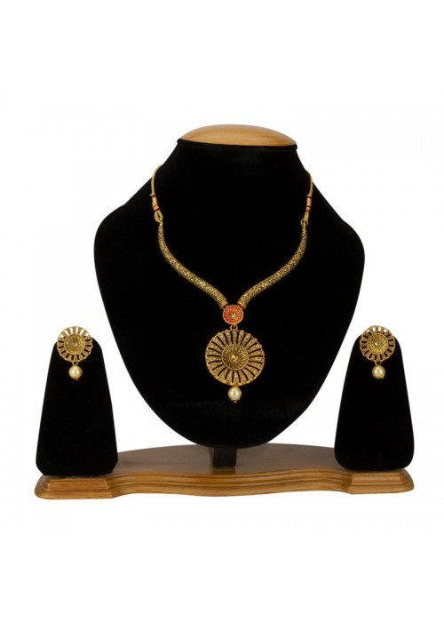 Jewels Galaxy Gold-Toned GP AD Necklace Set