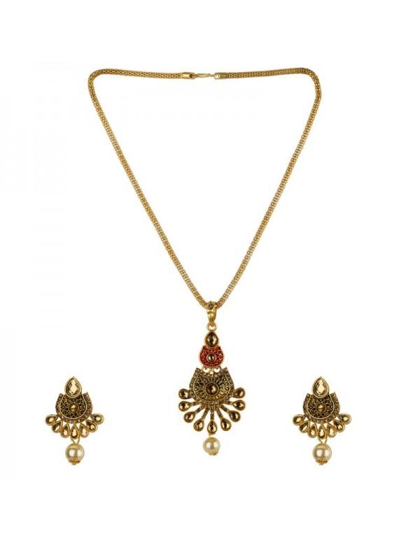 Jewels Galaxy GP American Diamond Traditional Necklace Set