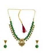 Jewels Galaxy Gold-Toned GP Green Pearl ...