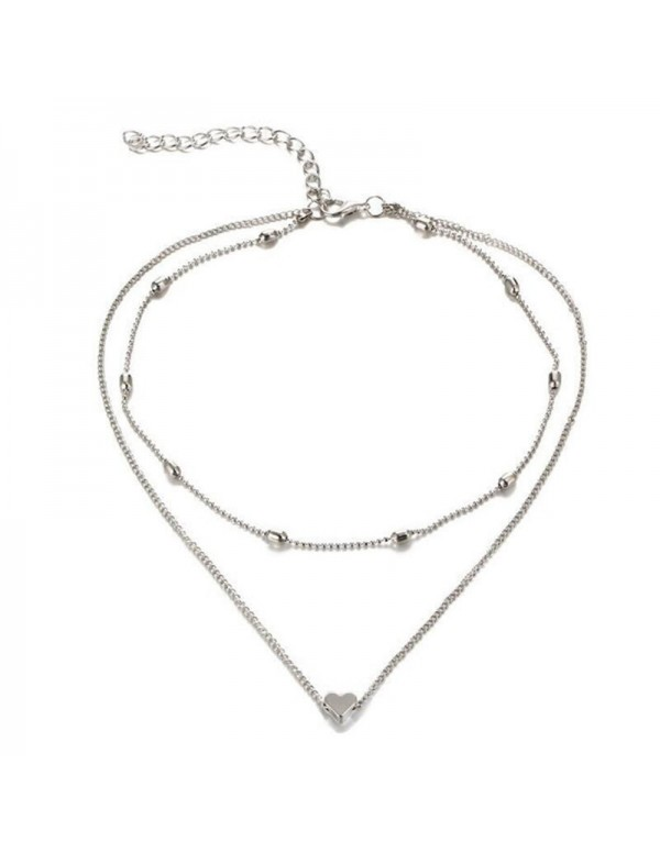 Jewels Galaxy Splendid Heart Inspired Double Layer...