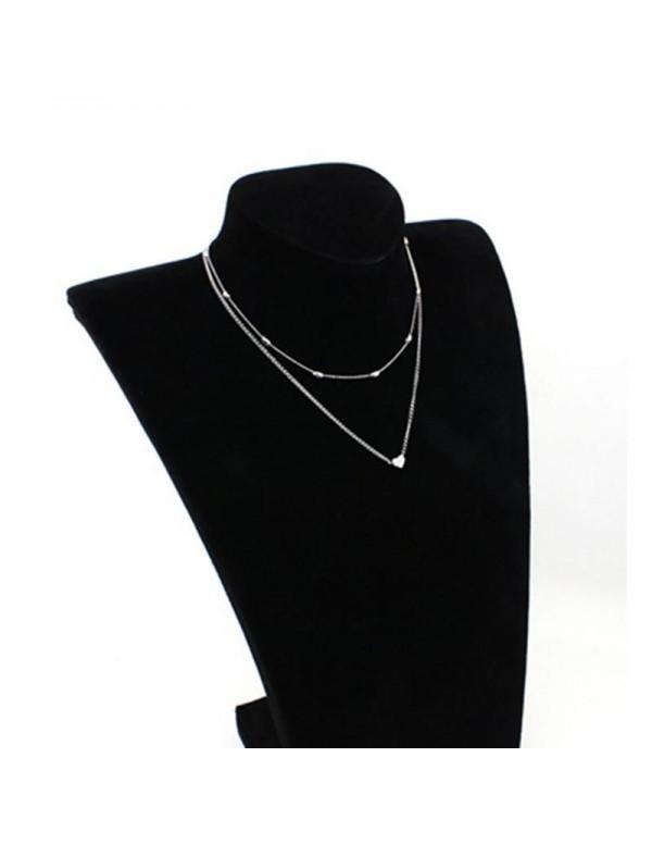 Jewels Galaxy Splendid Heart Inspired Double Layer...