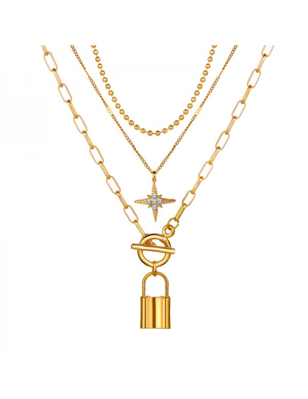 Jewels Galaxy Marvelous AD Start Lock Gold Plated ...