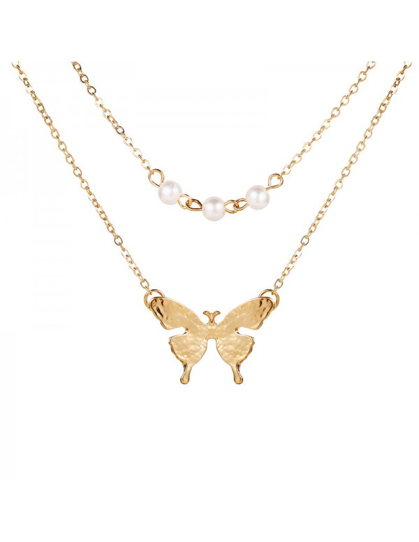 Jewels Galaxy Tantalizing Pearl Butterfly Gold Pla...