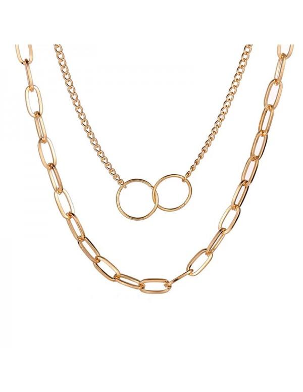 Jewels Galaxy Mesmerizing Cross Ring Lon Chain Gol...