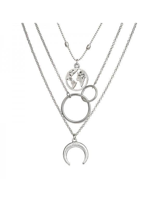 Jewels Galaxy Plushy Global Cross Ring Design Silv...