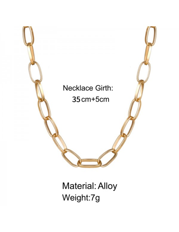 Jewels Galaxy Glitzy Bold Chain Gold Plated Necklace For Women/Girls 44188