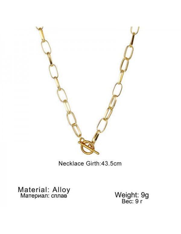 Jewels Galaxy Amazing Lock Bold Gold Plated Necklace For Women/Girls 44193