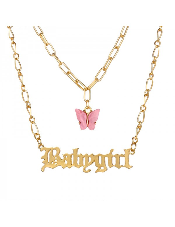 Jewels Galaxy Swanky Butterfly Babygirl Gold Plate...