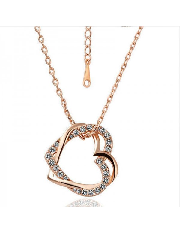 Jewels Galaxy Delicate American Diamond Heart Insp...