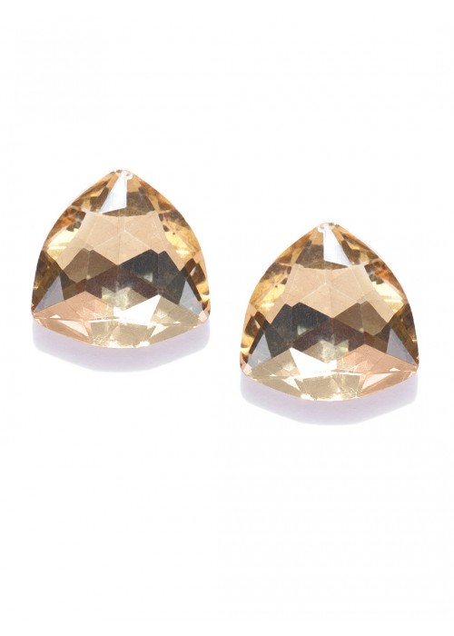 Jewels Galaxy Gold-Plated Oversized Studs