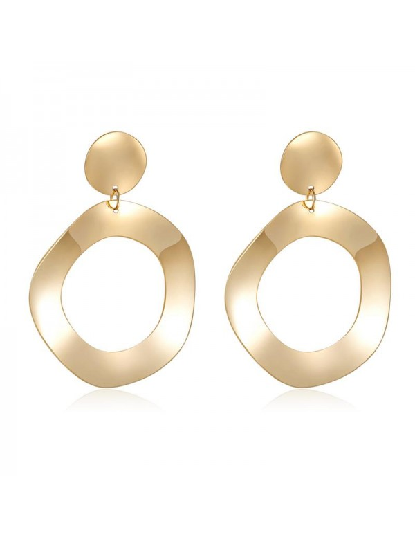 Jewels Galaxy Gold-Toned Contemporary Drop Earring...