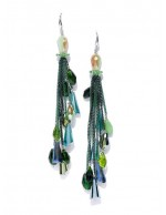 Green Silver-Plated Handcrafted Tasseled...