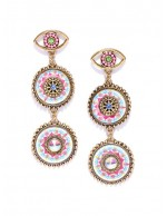 Pink Gold-Plated Handcrafted Circular Dr...