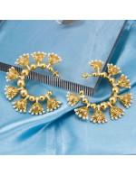 Gold Toned - Pearl-Studded Premium Desig...