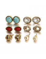 Jewels Galaxy Combo of 6 Pair Gold Plate...