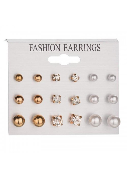 Jewels Galaxy Rose Gold Plated Stud Earrings Combo
