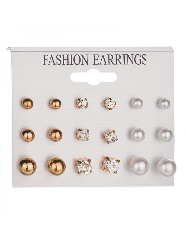 Jewels Galaxy Rose Gold Plated Stud Earrings Combo...