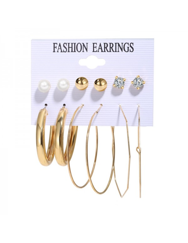 Jewels Galaxy Swanky Pearl & AD Gold Plated 6 ...