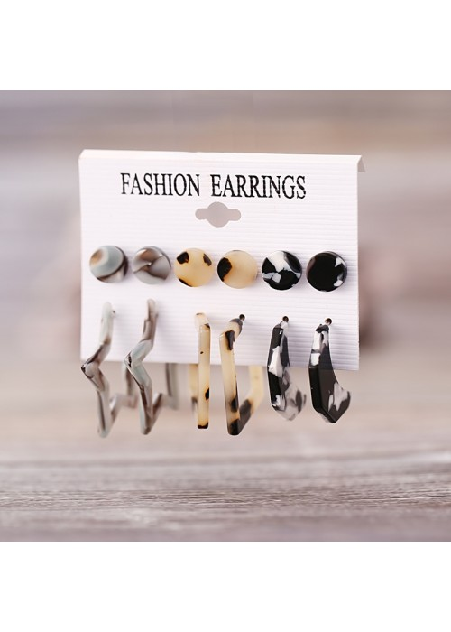Jewels Galaxy Trendy Silver Plated 6 Pair of Earrings For Women/Girls
