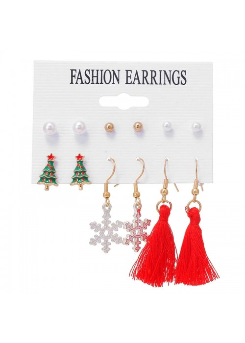 Jewels Galaxy Trendy Pearl Gold Plated Jewelley For Women Earrings Combo