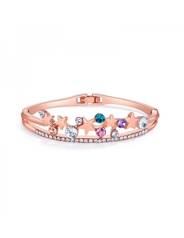 Rose Gold-Plated Handcrafted Bangle-Style Bracelet...