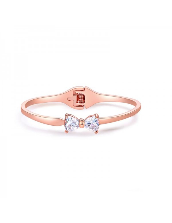 Rose Gold-Plated Handcrafted Cuff Bracelet 17108