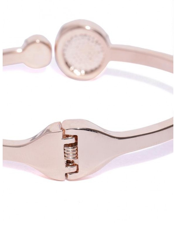 Rose Gold-Plated Handcrafted Cuff Bracelet 17103