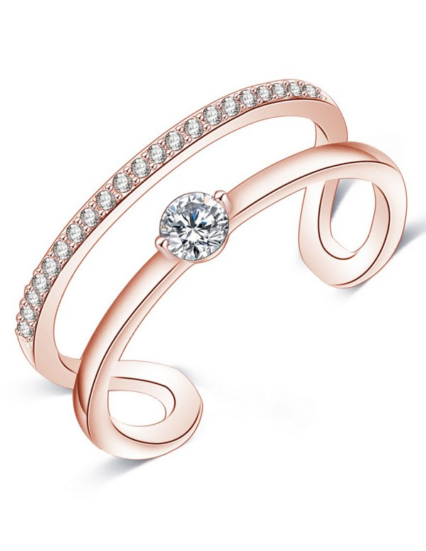 Jewels Galaxy 18K Rose Gold-Plated Stone-Studded A...