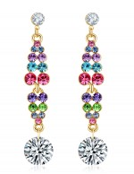Jewels Galaxy Multicoloured Rose Gold-Pl...