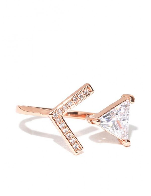 Jewels Galaxy 18K Rose Gold-Plated Luxuria Stone-S...
