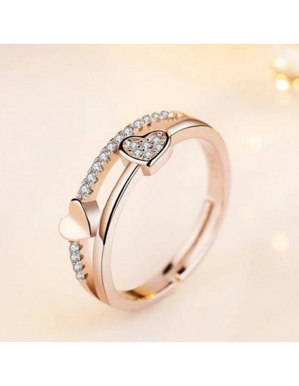 Jewels  Galaxy Adorable American Diamond Heart Des...
