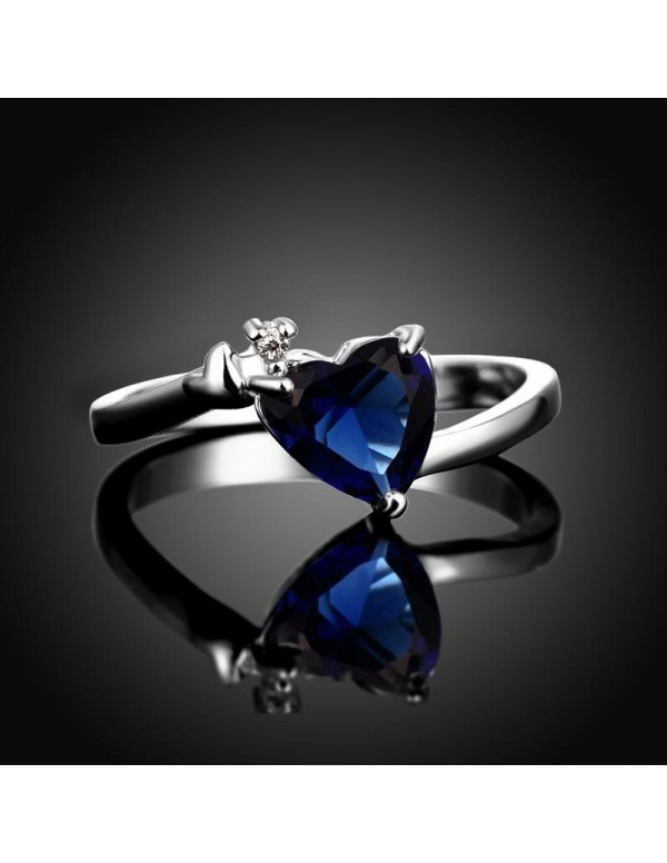 Jewels Galaxy Romantic Heart Crystal Silver Plated...