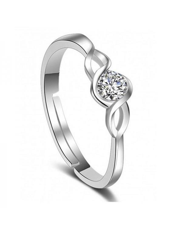 Jewels Galaxy Delicate American Diamond Silver Pla...