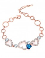 Jewels Galaxy Off-White Brass Rose Gold-...